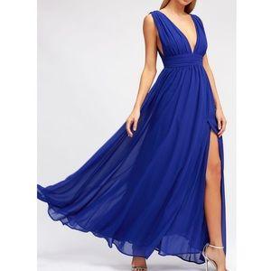 Lulus heavenly hues maxi dress NWT